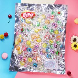 水果棒棒糖5斤约360支网红高颜值切片糖可爱卡通樱花硬糖果整箱批