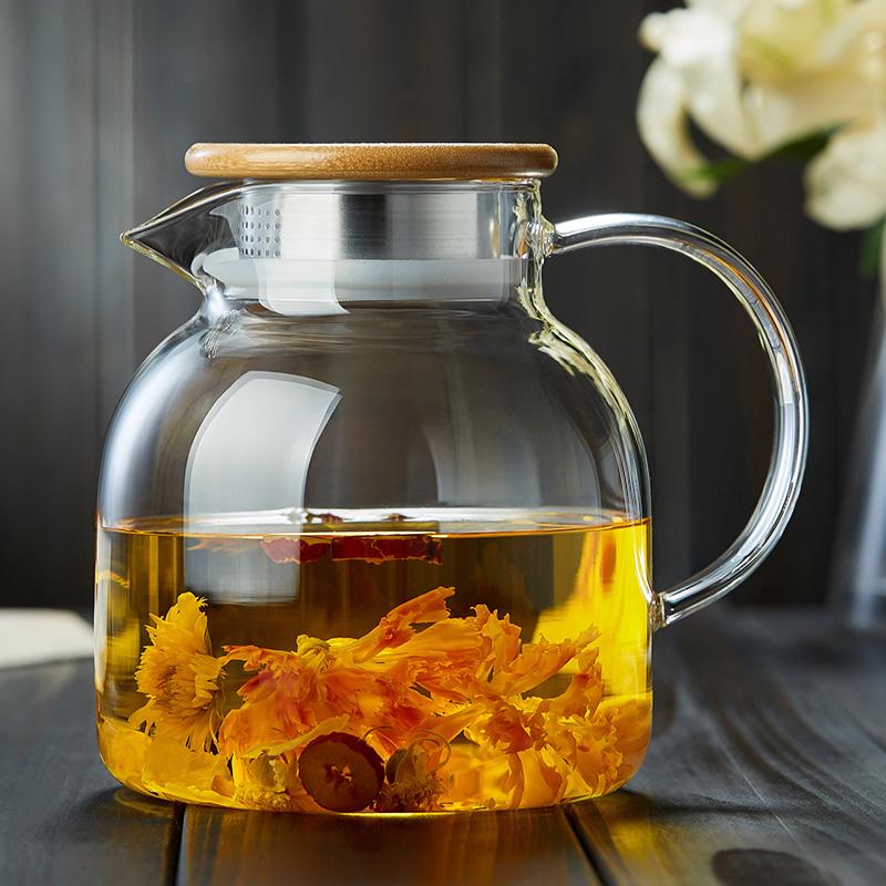 玻璃茶壶耐高温加厚单壶过滤大号红茶茶具家用耐热煮茶泡茶壶套装