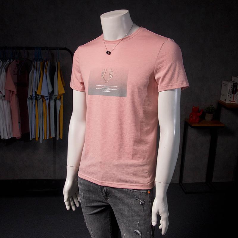 欧洲站男短袖t恤潮流刺绣2020新款欧货男士图案帅气个性潮牌半袖