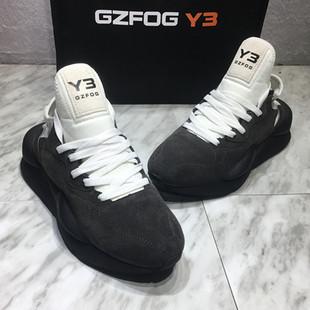 GZFOG Y3男鞋黑武士鞋2020新款春夏运动休闲透气情侣鞋ins老爹鞋图片