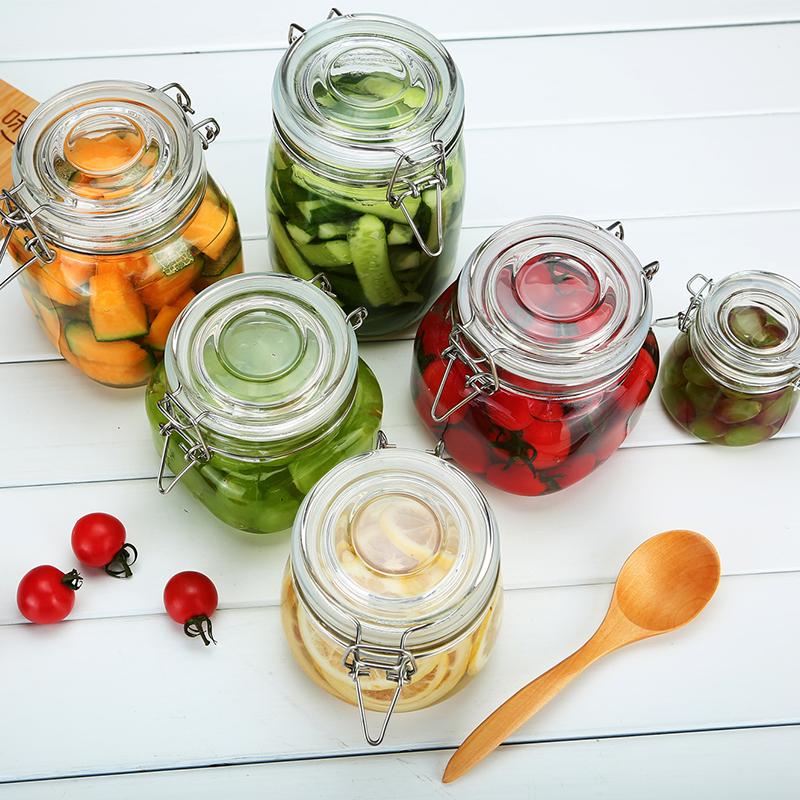 抖音同款储物罐茶叶罐玻璃瓶泡菜酵素蜂蜜百香果柠檬密封罐
