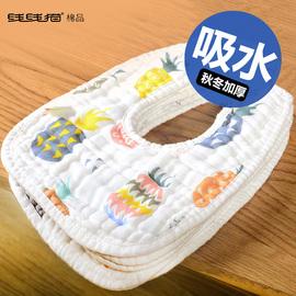 婴儿围嘴儿童吃饭围兜宝宝纯棉纱布口水巾防水吐奶围脖吸水兜围巾