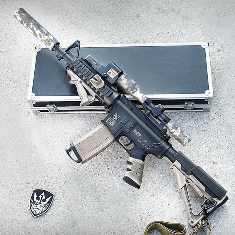 锦明8代9代M4水弹枪下供弹连发电动成人真人CS水弹抢儿童玩具枪
