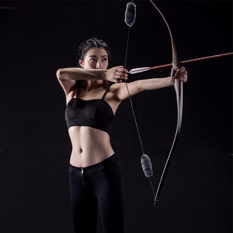 传统弓一体美式反曲弓箭套装竞技射击器材户外射箭运动箭馆收藏
