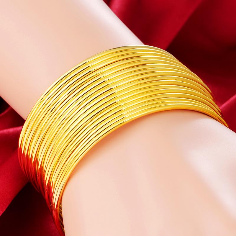 新款正品三生三世的黄金手镯女实心999黄金手链女纯金首饰免税