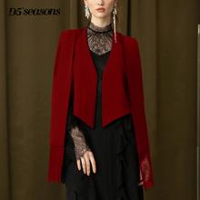 网红(小)西8a12019nv潮长袖名媛风蕾丝拼接显瘦气质斗篷外套