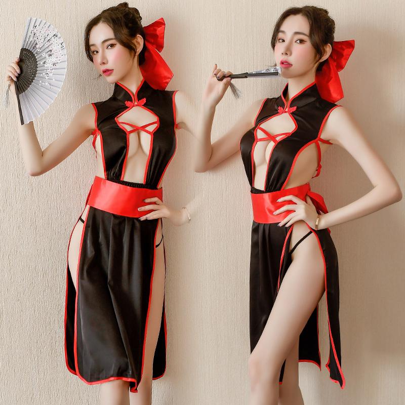 cosply服装女舞姬和服性感情趣服装长裙夜店女装露胸开叉巫女cos