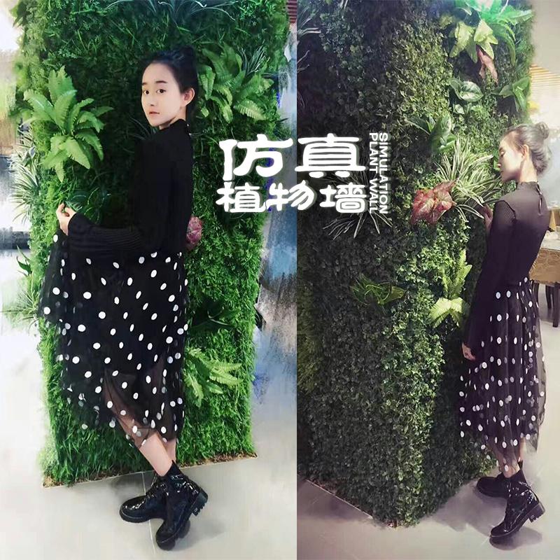 假绿植背景墙定制塑料壁挂仿真绿植墙植物墙草坪背板阳台装饰室内