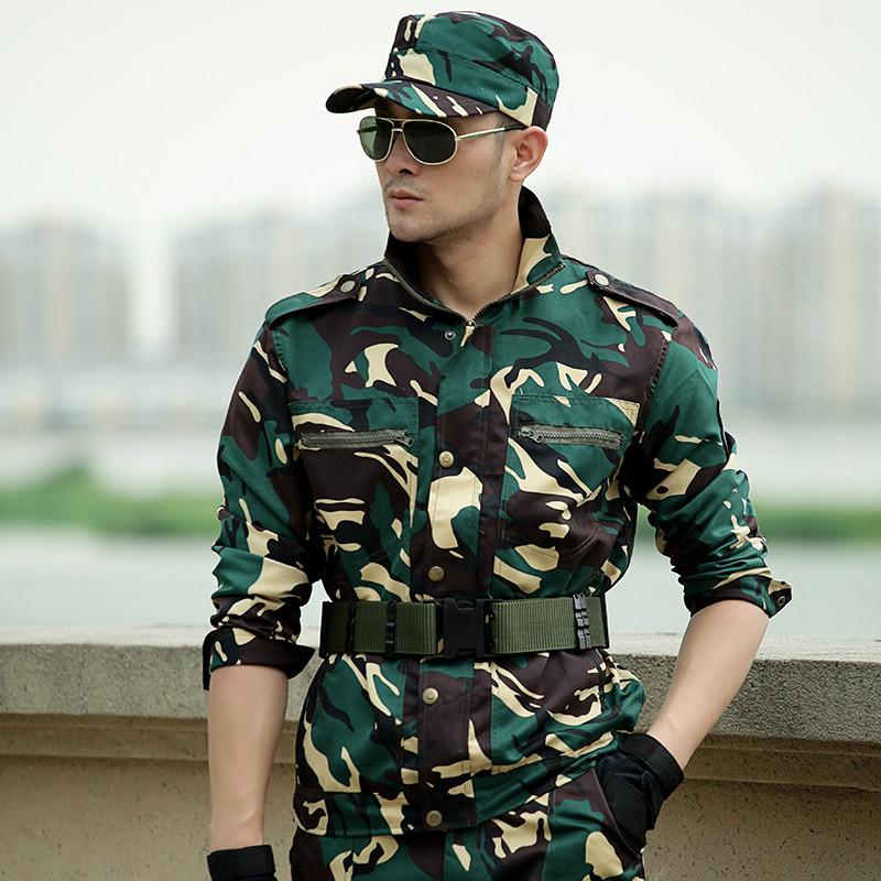 长袖迷彩服套装特种兵作战服夏季学生军训服男军装女耐磨工作服装