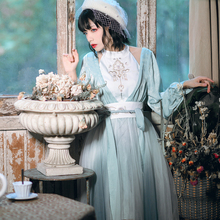 卿棠原创-寄花朝-国风复古xi10衣裙仙en素不规则下摆纱裙