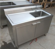 厨房304不锈钢水槽柜子洗菜碗kj12单双槽j8水池储物一体柜