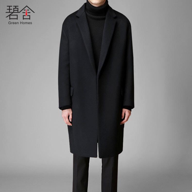 活动款冬季新款毛呢大衣男中长款青年羊毛大衣时尚韩版呢大衣外套