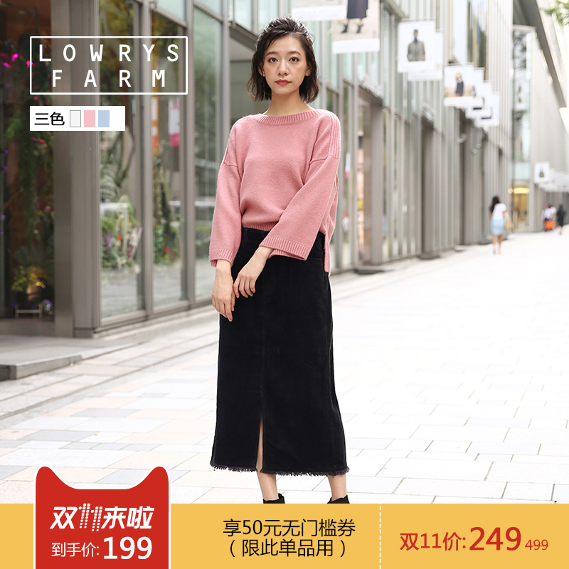 collectpoint LOWRYS FARM日系喇叭袖毛衣针织上衣女759236