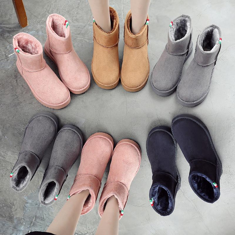 雪地 保暖 冬季 新款 短靴 学生 棉鞋