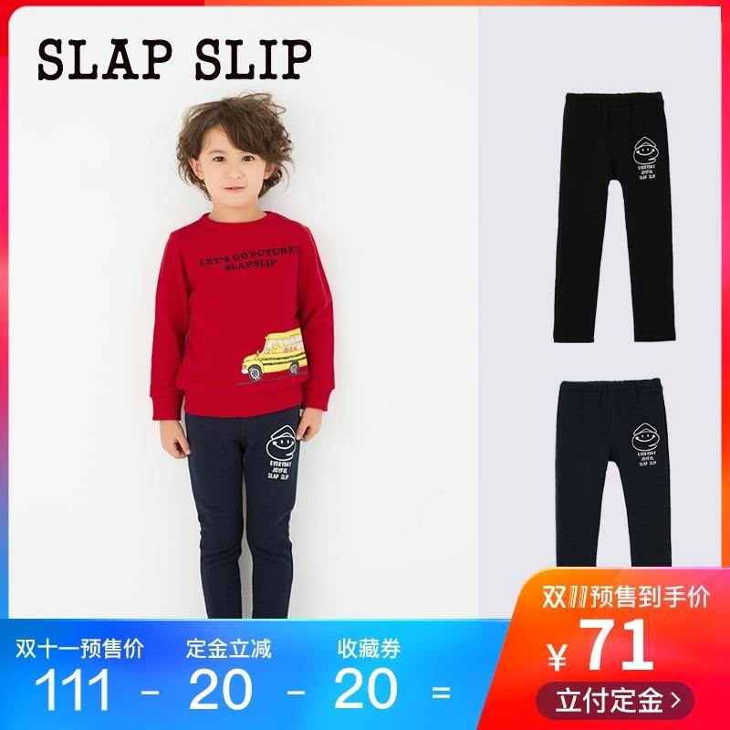 【预售】SLAP SLIP日本直供男童中腰e君印花长裤后口袋加绒休闲裤