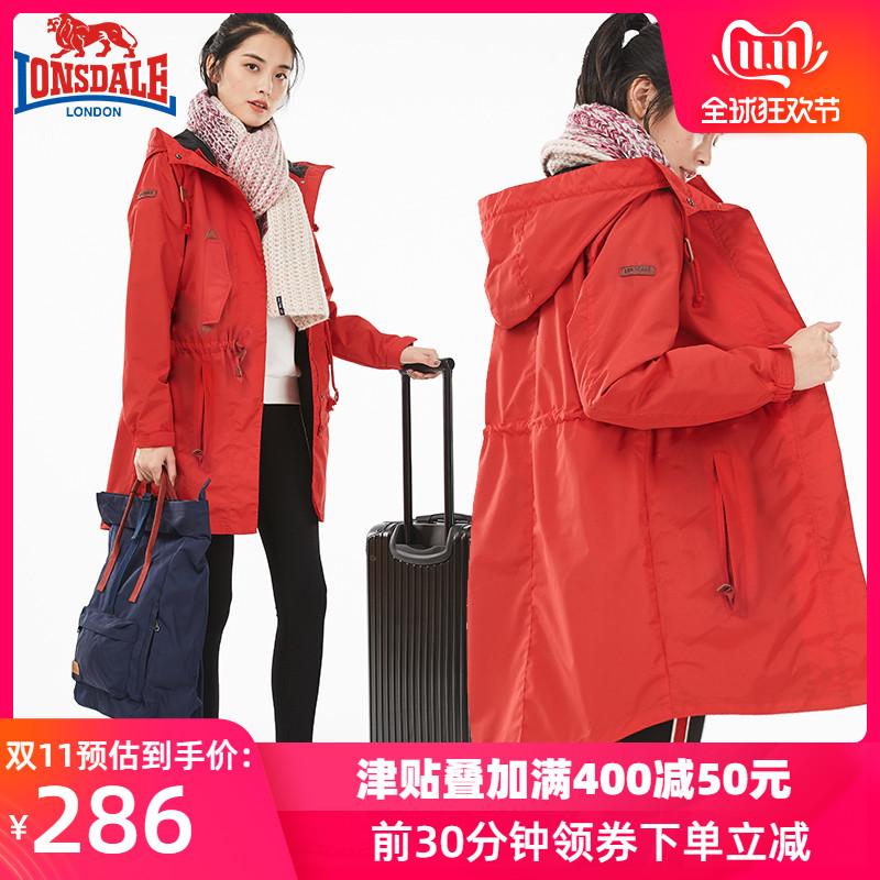 龙狮戴尔秋冬季冲锋衣女可拆卸中长款韩国潮牌三合一加绒加厚外套