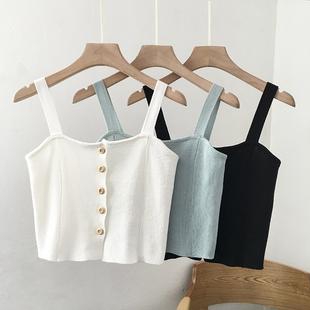 秋白色吊带设计感小众打底短款背心女裹胸内搭抹胸外穿露肩上衣女图片