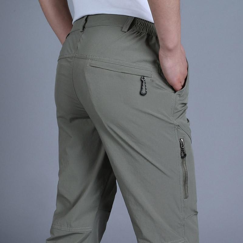 2021夏季薄款男装休闲裤宽松男士速干裤弹力直筒长裤子青年工装裤