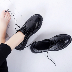 British style women's shoes spring 2019 new casual wild student Brock shoes Harajuku soft girl small leather shoes