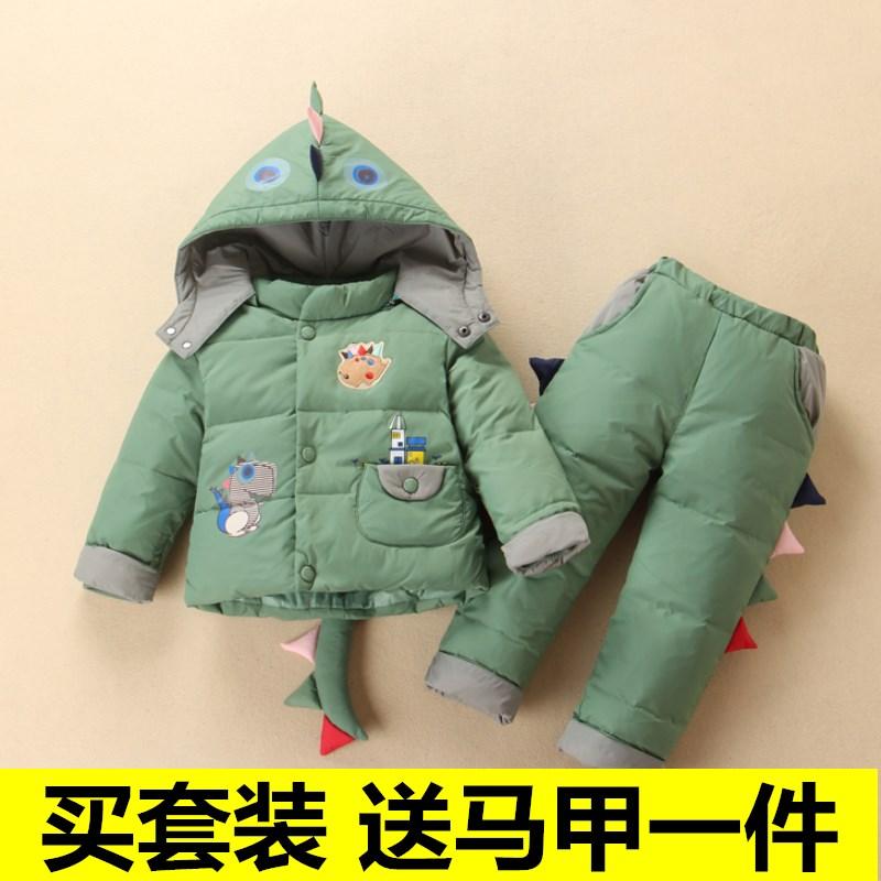 新款宝宝羽绒服套装1-4岁儿童小童女童男童婴儿幼儿冬装加厚洋气