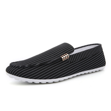 New Bean Shoes for Men Driving Leisure Stripes in Autumn
