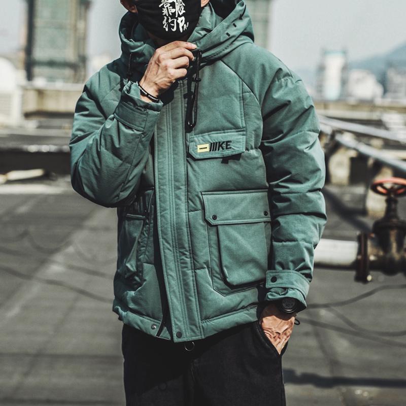 冬季男士短款宽松连帽工装棉衣男生棉袄外套加厚韩版潮流棉服男潮