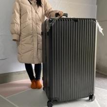 超大100寸旅行2f5大容量铝kk杆箱大号行李箱结实耐用静音箱包