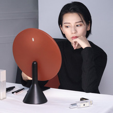 MUID large round mirror makeup mirror desktop led with lamp charging desktop high-definition light-supplementing dressing smart makeup mirror