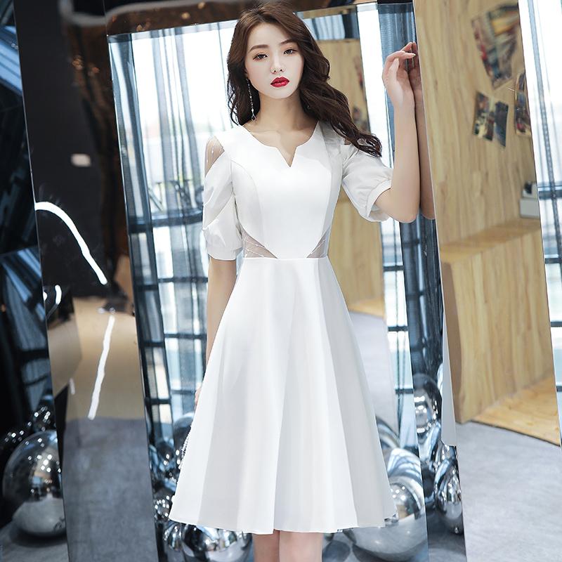 宴会晚礼服女2019新款气质高贵法式小礼服连衣裙平时可穿年会显瘦
