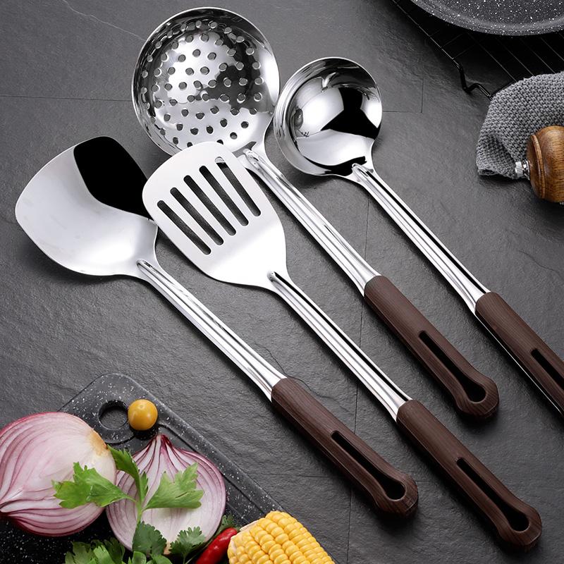 304不锈钢锅铲勺子套装厨具全套家用勺炒菜铲子厨房铲勺漏勺汤勺