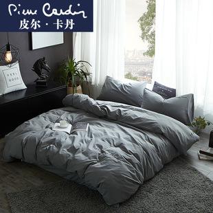 四件套全棉纯棉1.8m床上用品4春秋床单被套100床笠简约欧式水洗棉