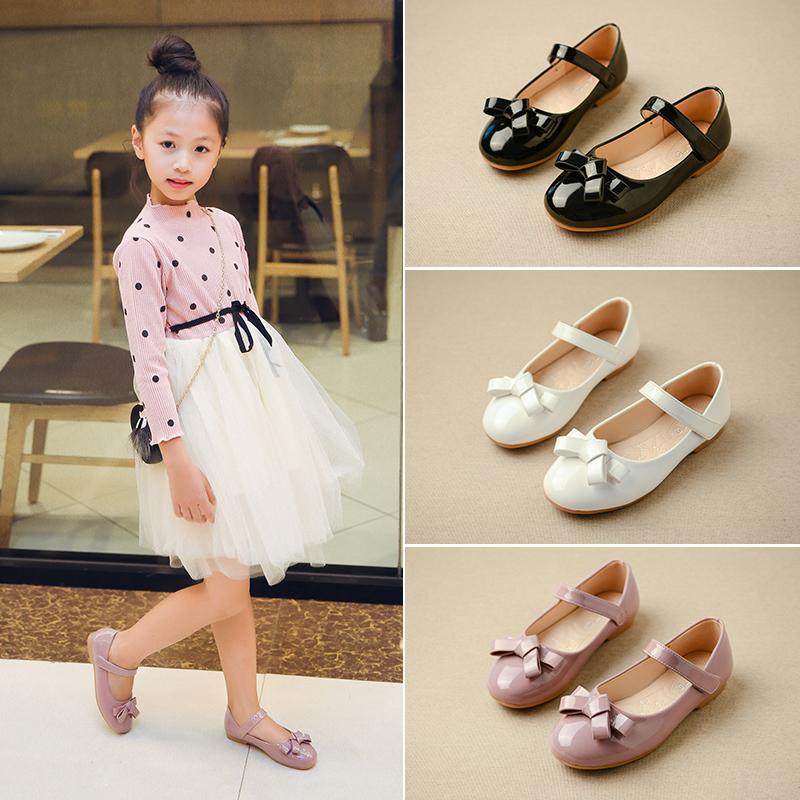 童鞋女童皮鞋鞋子春秋2018新款小女孩1-3岁公主鞋女韩版儿童单鞋