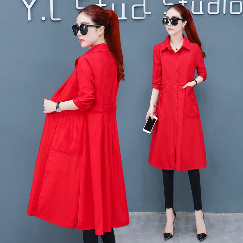 小个子风衣外套女装2019新款韩版气质时尚洋气收腰中长款妈妈外衣