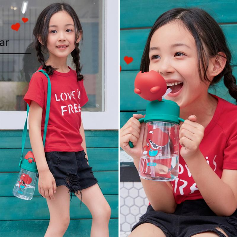杯具熊儿童水杯吸管杯子宝宝幼儿园防摔婴儿夏季便携水壶夏天外出