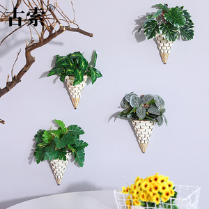 Artificial plant wall decoration wall hanging fake flower artificial flower restaurant indoor living room decoration European-style home decorations