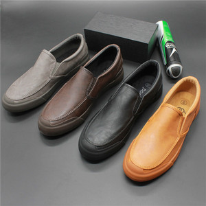 New breathable hole sandals men's casual one-pedal lightweight low-help men's leather shoes black business work men's shoes
