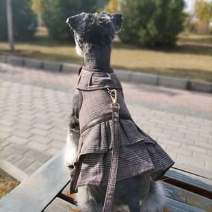 新品宠物牵引绳套装背心式小型犬胸背狗繩泰迪雪纳瑞脖圈猫胸背带