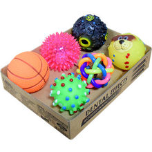 Small Dog Toy Set Teddy Dog Molars, Bite-proof Vocal Ball Toys, Puppies Playing Ball Pet Toys