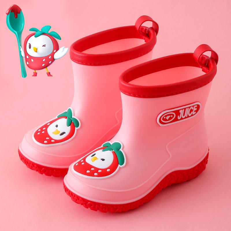 夏季儿童雨靴水鞋防滑卡通男女童1-3-6岁中小童加绒幼儿宝宝雨鞋
