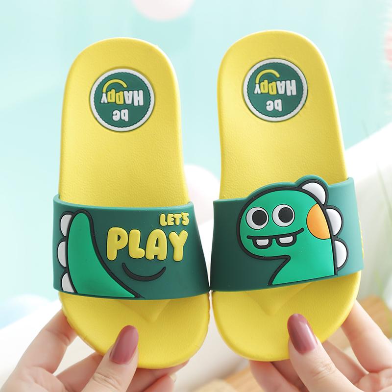 宝宝拖鞋夏卡通恐龙一家三口1-3岁2男女童洗澡浴室儿童沙滩凉拖鞋