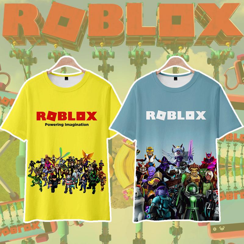 ROBLOX虚拟世界游戏卡通动漫周边T恤短袖男女学生青少年衣服夏季