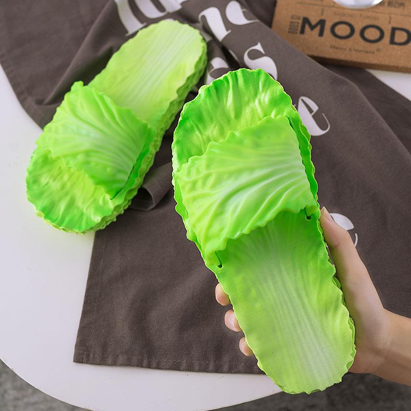 创意白菜网红拖鞋女夏秋新款居家用浴室内防滑洗澡情侣外穿儿童鞋