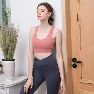 正品运动内衣女防震跑步聚拢定型美背文胸高强度带胸垫性感专业瑜