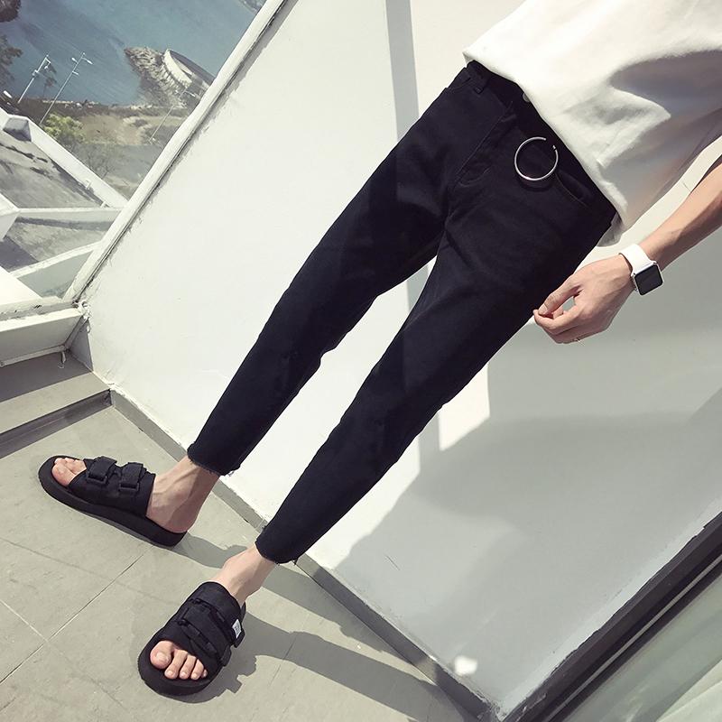 韩版男生潮流牛仔裤男