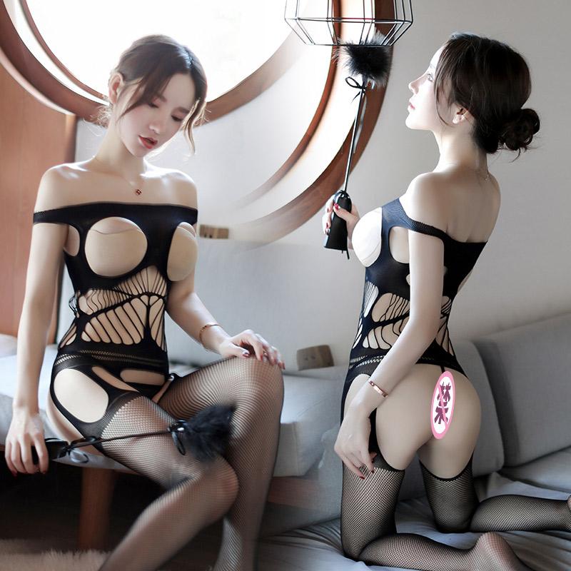 性感情趣衣服露乳开裆连身袜挑逗夫妻调情午夜魅力兴趣激情套装骚