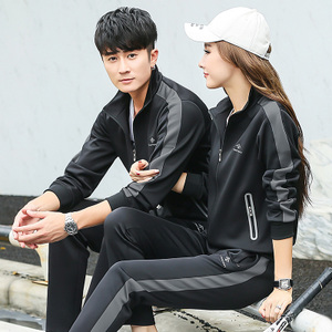 Sports suit male spring and autumn couple sportswear female sweater trousers casual running sportswear two-piece suit