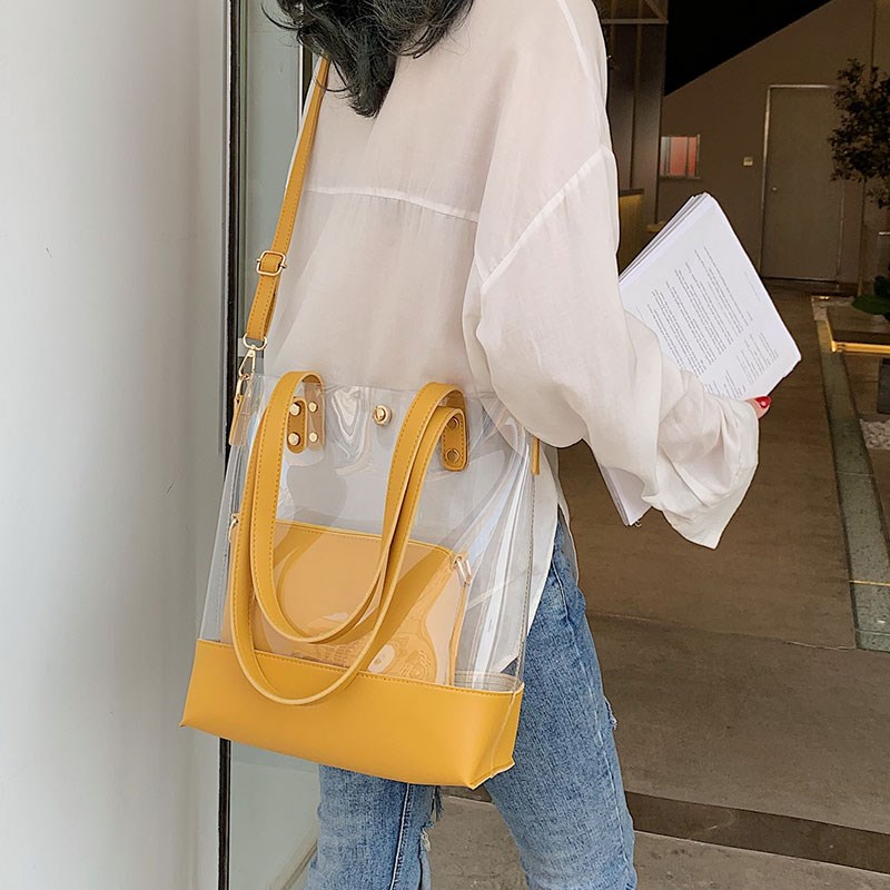 夏季小清新大包包女2019新款网红百搭时尚单肩包洋气斜挎托特包