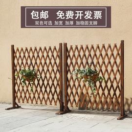田园伸缩木质栅栏庭院碳化防腐木篱笆爬藤架幼儿园室内装饰木围栏