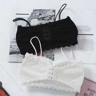 裹胸抹胸短款性感聚拢防走光打底吊带背心式白色美背内衣学生女图片