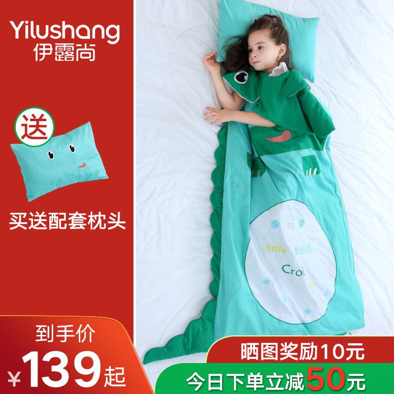婴儿睡袋儿童春秋冬季冬款加厚幼儿中大童小孩被子宝宝防踢被神器